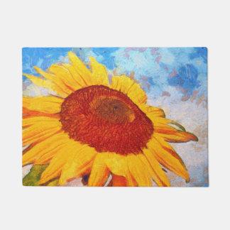 Paillasson Bonjour art de tournesol de Sun
