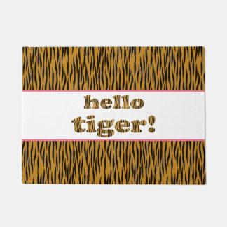 Paillasson Bonjour tigre ! Copie de tigre d'amusement