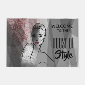 Paillasson Chambre d'illustration de mode de style