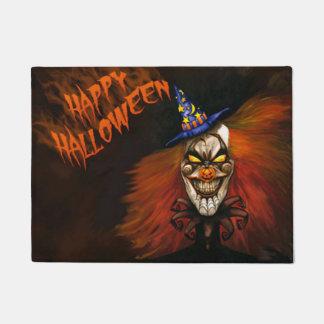 Paillasson Clown effrayant heureux de Halloween