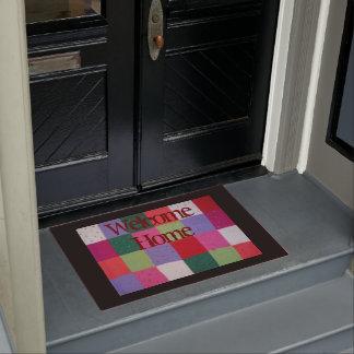 Paillasson conception colorée de patchwork tricotée par style