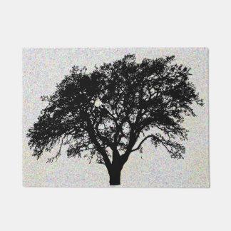 Paillasson Conception noire fraîche d'impression d'arbre