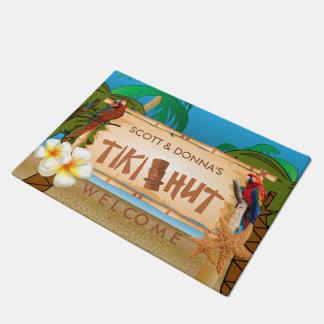 Paillasson Conception tropicale de hutte de Tiki