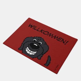 Paillasson Doodle noir accueil