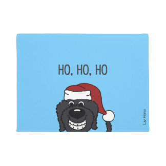 Paillasson Doodle Santa noir
