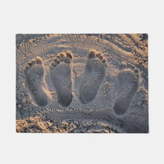 Paillasson Empreintes de pas de plage de sable