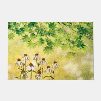 Paillasson Fleurs blanches lumineuses et gaies d'echinacée