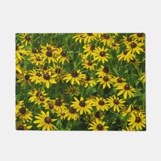 Paillasson Fleurs sauvages - Susans observé par noir