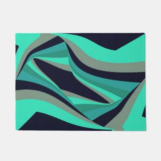 Paillasson Gris turquoise de turquoise d'Aqua élégant moderne