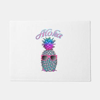 Paillasson Hawaïen coloré d'ananas Aloha