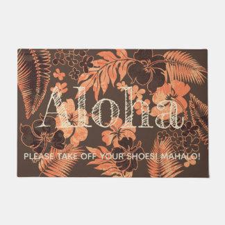 Paillasson Kona chronomètre le Hawaïen Aloha Brown de ketmie