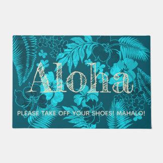 Paillasson Kona chronomètre le Hawaïen Aloha Teal de ketmie