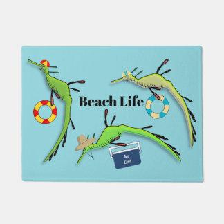 Paillasson La vie de plage des dragons malingres de mer