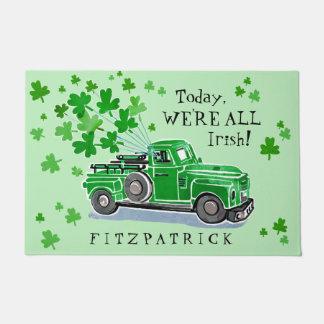 Paillasson Le camion vintage de vert du jour de St Patrick