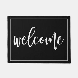 Paillasson Manuscrit blanc bienvenu