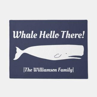 Paillasson Marine nautique de baleine bonjour là -