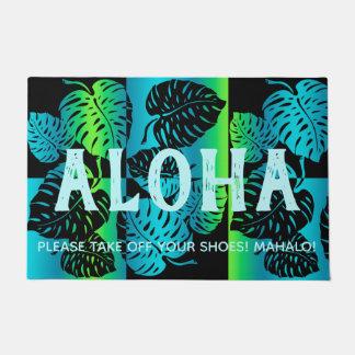 Paillasson Mélange barré par Hawaïen tropical de Makua