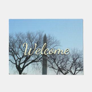 Paillasson Monument de Washington en hiver je voyage