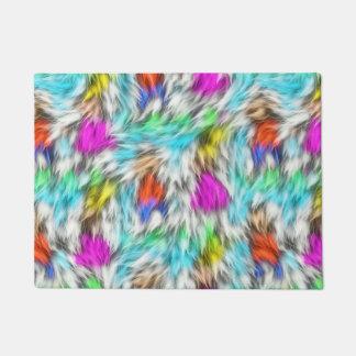 Paillasson Motif blanc coloré de fourrure de léopard