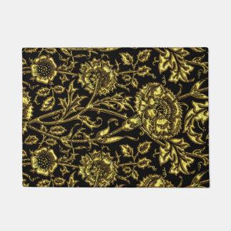 Paillasson Motif coloré par or sur le noir