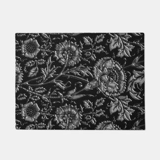 Paillasson Motif floral coloré par argent