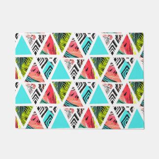 Paillasson Motif tropical abstrait coloré