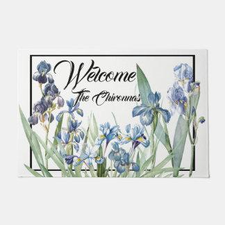 Paillasson Natte bleue d'accueil de jardin d'agrément d'iris
