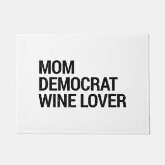 Paillasson Natte d'amateur de vin de Démocrate de maman
