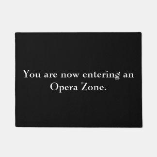 """Paillasson Natte """"de zone d'opéra"""""""