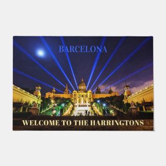 Paillasson Natte faite sur commande de Barcelone des textes
