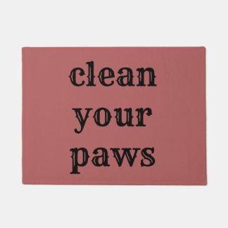 Paillasson nettoyez les pattes