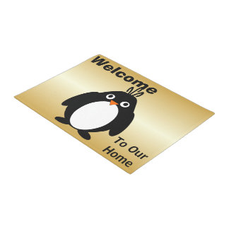 Paillasson Or personnalisé de conception de pingouin coloré
