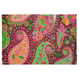 Paillasson Paix rétro Boho coloré de hippie chic