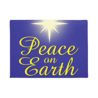 Paillasson Paix sur la natte de vacances d'étoile de Noël de
