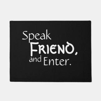 "Paillasson ""parlez ami"""