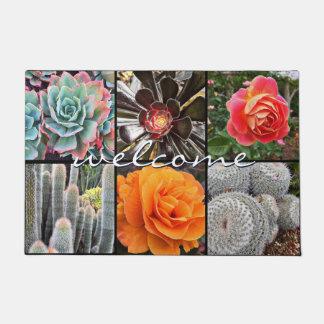 Paillasson Photo colorée de plan rapproché de cactus et de