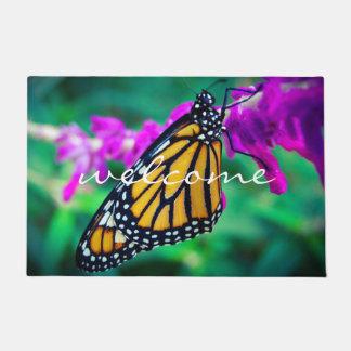 Paillasson Photo orange colorée de papillon de monarque de