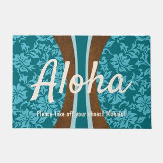 Paillasson Planche de surf en bois de Faux hawaïen de