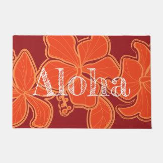 Paillasson Rouge floral hawaïen de ketmie de Kailua Aloha