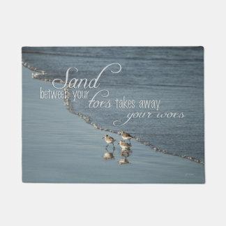 Paillasson Sable entre votre citation de plage d'orteils