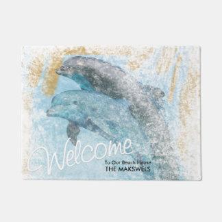 Paillasson sautant de Chambre de plage de dauphins