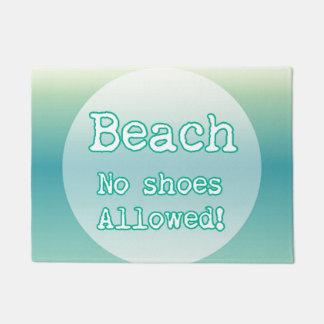 Paillasson Typographie bleue de citation d'amants de plage