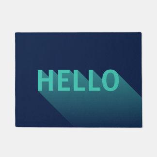 Paillasson Typographie moderne de Teal de bleu marine et