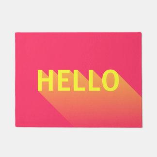 Paillasson Typographie rose et jaune vibrante moderne de