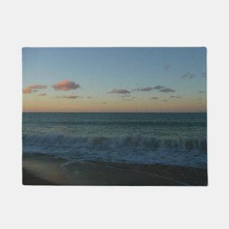 Paillasson Vagues se brisant au paysage de plage de coucher