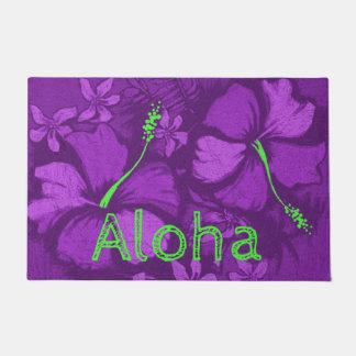 Paillasson Violette hawaïenne de roche de lave de ketmie de