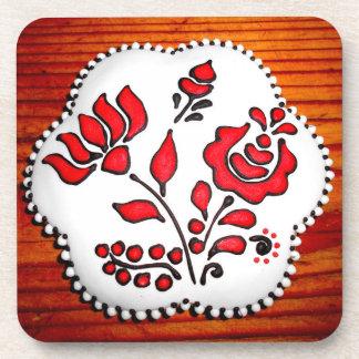 Pain d'épice avec des motifs hongrois dessous-de-verre