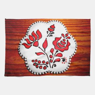 Pain d'épice avec des motifs hongrois serviette pour les mains