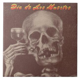 Pain grillé de crâne de trépied de Tile Dia de Los Grand Carreau Carré