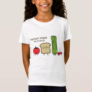 Pain grillé et amis de Brown T-Shirt